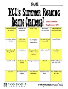 hood reading challenge